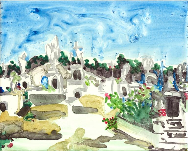 Isla Mujeres Graveyard by Lisa Leppa