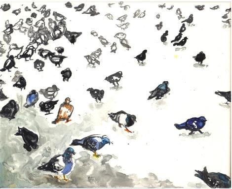Pigeons by Lisa Leppa